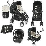 BabyStyle TS2 Travel System Baby Pushchair Pram (Domino Black)
