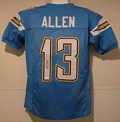 Keenan Allen Autographed San Diego Chargers Size XL Blue Jersey - JSA Authenticated - Authentic Signed Autograph