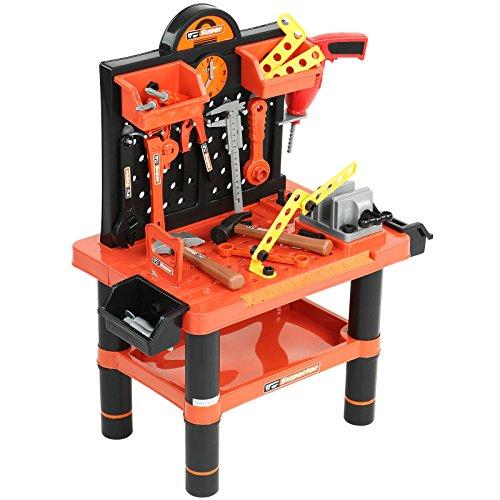 Werkbank-Bunte-Kinder-Werkzeugbank-Spielzeug-Werkstatt-mit-umfangreichem-Zubehr