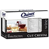 Chinet Stemless Plastic Wine Glasses, 24 Count