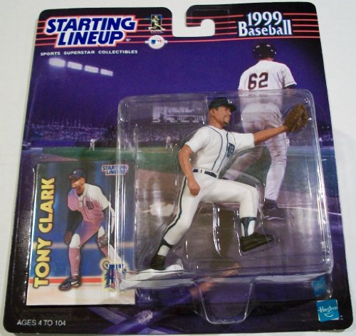 Tony Clark Action Figure in Detroit Tigers Uniform - 1999 Starting Lineup Major League Baseball Series