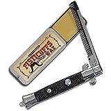 Fisticuffs Mustache Wax / Switchblade Comb Set