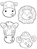 Masques à colorier animaux de la jungle (x6)...