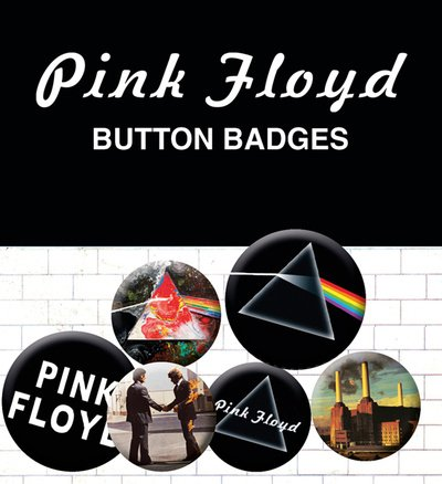 GB eye LTD, Pink Floyd, Album y Logos, Pack de Chapas