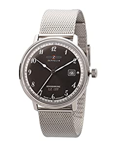 Zeppelin Watches Men's Quartz Watch 7046M-2 7046M-2 with Metal Strap
