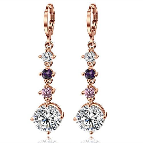rose-girls-chep-gold-plated-copper-cz-crystal-drop-dangle-earrings-for-brides