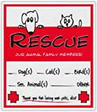 2-Pack Pet Rescue Alert To Fire Department | Window Stickers Decals Dogs Cats