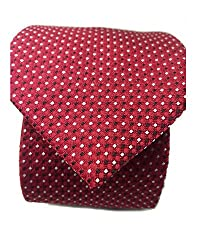 Blacksmith Red and Black Polka Tie for Men