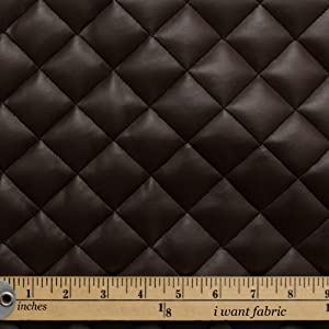 Chocolate Brown Diamond Quilted Padded Cushion Faux