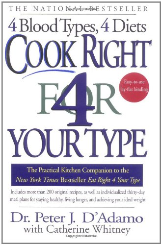 Cook Right 4 Your Type: The Practical Kitchen Companion to Eat Right 4 Your Type (Change Shipping Type compare prices)