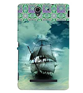 GADGET LOOKS PRINTED BACK COVER FOR SONY XPERIA C3 MULTICOLOUR