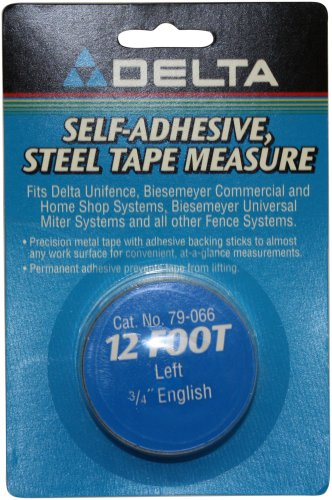 Delta 79-066 Biesemeyer 12-ft Left 3/4-in English Adhesive-Backed Measuring Tape