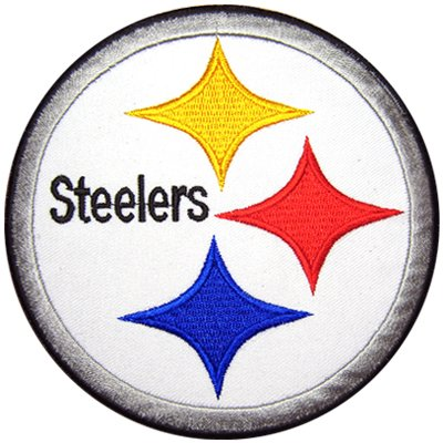 "NFL Football Pittsburgh Steelers Logo Crest 5"" Embroidered Patch at Amazon.com"