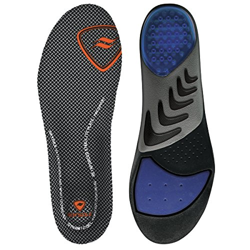 Sof Sole Airr Orthotic Full Length Performance Shoe Insoles, Men's Size 9-10.5 (Flat Feet Insoles compare prices)