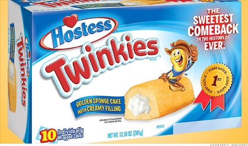 Hostess Twinkies NEW 1st Batch Label Snack Cakes 13.58oz (2 Pack)
