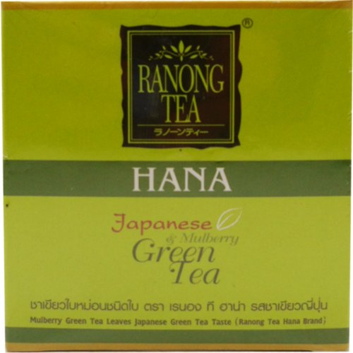 Japanese & Mulberry Green Tea Leaves Japanese Green Tea Taste Herbal High Anti-Oxidant Net Wt 50 G (1.76 Oz) Brand Hana Ranong-Tea X 4 Boxes