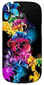 Noticeable 3D multicolor printed protective REBEL mobile back cover for Samsung Galaxy S3-Mini - D.No-DEZ-2128-s3m