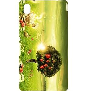 Casotec Landscape Summer Colorful Design Hard Back Case Cover for Sony Xperia M4 Aqua