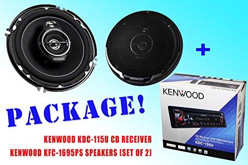 Package ! Kenwood Kdc-115U Cd-Receiver + Kenwood Kfc-1695Ps Car Speakers
