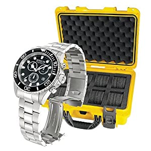 Invicta 10050 Pro Diver Men's Watch with 8 Slot Collector's Case
