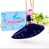 Ocarina Ceramique Triforce 12 Trous Link Legend of Zelda Instrument musique