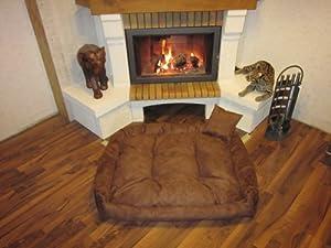Letto per cani cane cestino divano cane colore marrone 100 for Divano x cucina