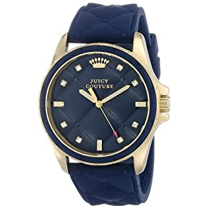 Juicy Couture Women's 1901099 Stella Navy Quilted Silicone Dial Watch