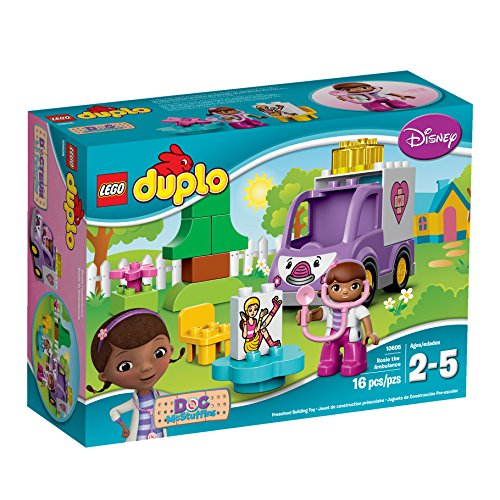 LEGO DUPLO Brand Disney 10605 Doc McStuffins Rosie the Ambulance Building Kit (Big O Model Kit compare prices)