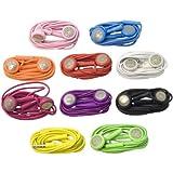 Lot écouteurs 10 couleurs différentes avec micro pour iPhone 4S 4G 3G 3GS iPod Touch BC70