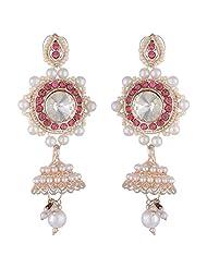 Bel-en-teno White Alloy Earring Set For Women - B00PY9XTAU