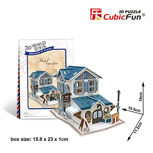 CubicFun 3D Puzzle World Style-Series ''France Flavor - Hotel'' - 1
