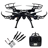 Junpro-FPV-RC-Headless-Quadcopter-with-Real-Time-Transmission-Camera-4-Channel-6-Axis-Gyro-24G-X5SW-1-Aircraft-Drone-Support-One-Key-Return-360-Degree-Rolling-Phone-And-Transmitter-Two-Way-Control