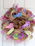 Pastel Bird Deco Mesh Wreath