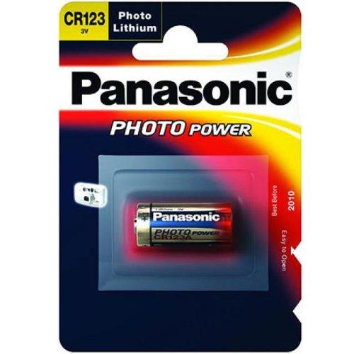 Panasonic fotobatterie au lithium cR123A 3 v -