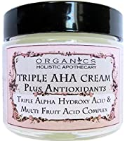 ORGANIC Natural Triple Alpha Hydroxy Acid & Multi Fruit Acids Complex. Lac­tic Acid (from Bilberry), Glycolic Acid (from Sugar Cane), Citric Acid (from Orange, Lemon and Cranberry), and Malic and Tartaric Acids (from Sugar Maple) Plus Antioxidants Face C