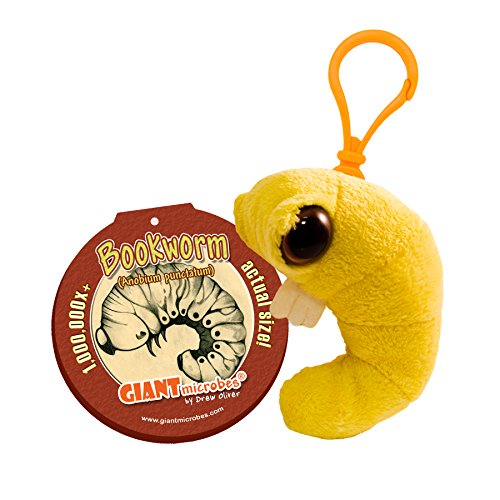 GIANTmicrobes Keychain - Bookworm (Anobium punctatum)