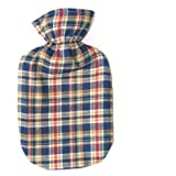 Confetti Plaid Cotton Flannel Hot Water Bottle Cover - COVER ONLY