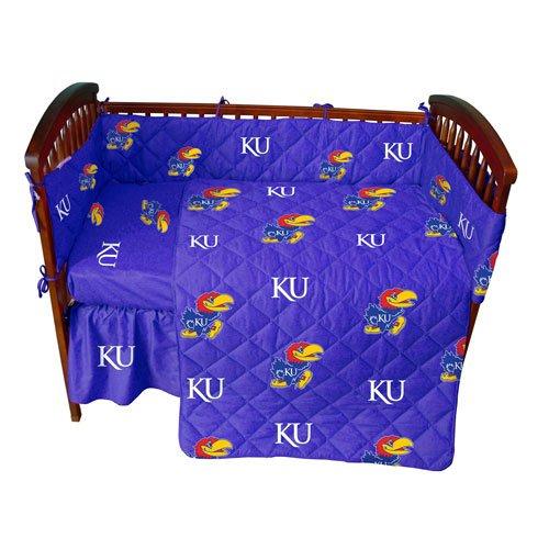 Kansas Baby Crib Fitted Sheet - Solid - Kansas Jayhawks front-1006503