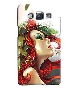 Omnam Girl Face Printed Designer Back Cover Case For Samsung Galaxy E5