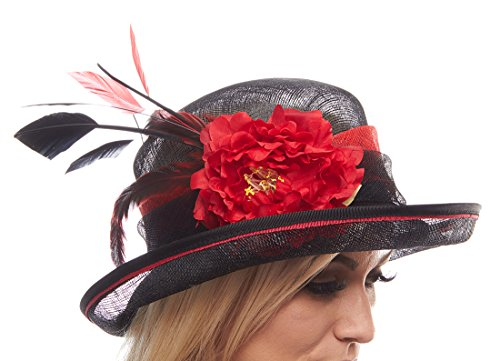 march hare sinamay two tone derby hat black apparel