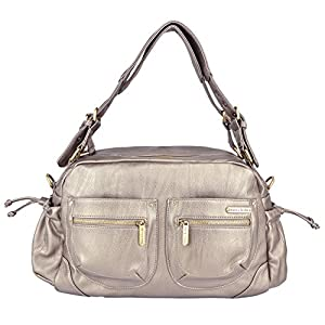 timi & leslie Jessica Diaper Bag Set, Pewter