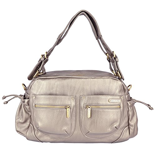 Timi & Leslie Jessica Diaper Bag Set, Pewter front-984140