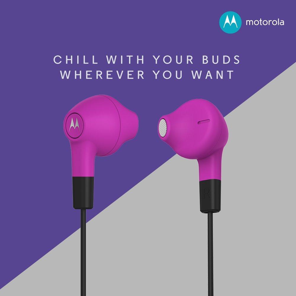 Motorola Lumineer In-Ear Earbuds (Purple) @Rs 449