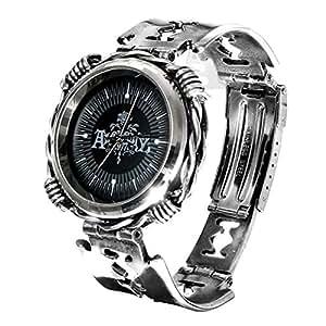 Alchemy Gothic Razhora Razor Blade Quartz Pewter Adjustable Wrist Watch - M/L