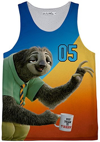 pizoff-unisex-narrow-cut-floral-mesh-tank-perforated-material-tank-tops-sloth-zootopia-zootropolis-y