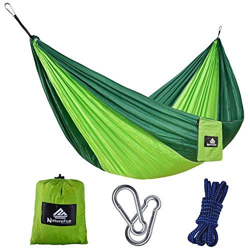 NatureFun-Tragbare-275140cm-Ultra-Leichte-100-Fallschirm-Nylon-Reise-Camping-Hngematte-fr-Backpacker-Camping-Jagen-Strand-Hof