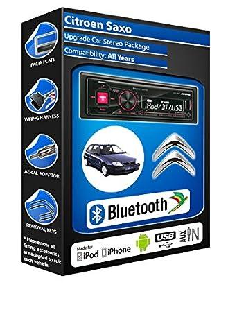 Citroën Saxo autoradio Alpine UTE 72BT mains-libres Bluetooth pour autoradio stéréo
