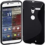 Motorola Moto X (1st Generation) Case, Cimo [Wave] Premium Slim TPU Flexible Soft Case For Motorola Moto X (1st Generation, 2013) - Black