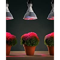 3-Pack Sandalwood 12W LED Plant Grow Light for Hydroponic Garden and Greenhouse