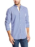 Hackett London Camisa Hombre Piper Gingham (Azul)